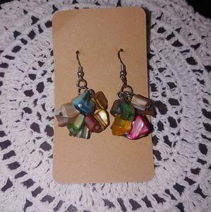 Multicolor shell earrings